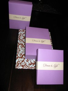 Invitations in their boxes